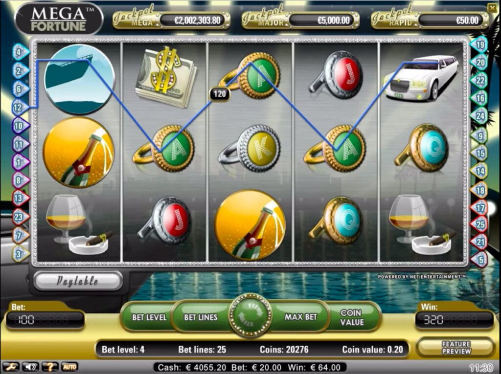 Mega Fortune slots image