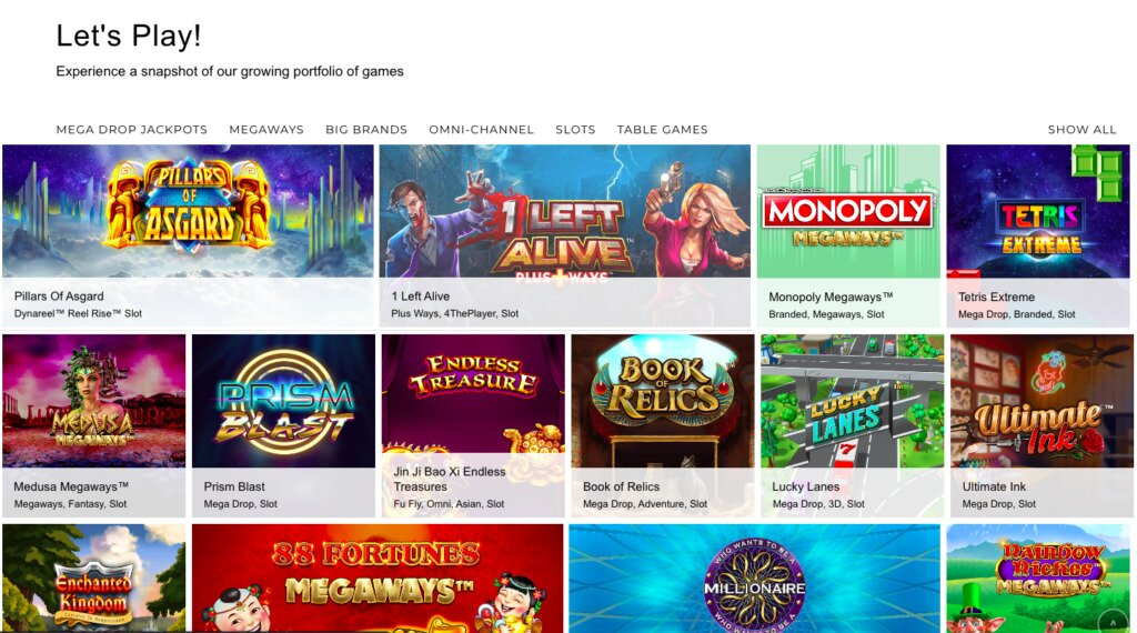Scientific Games Front Page Gaming Image