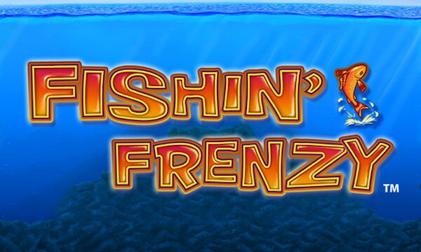 slot game Fishin Frenzy title card