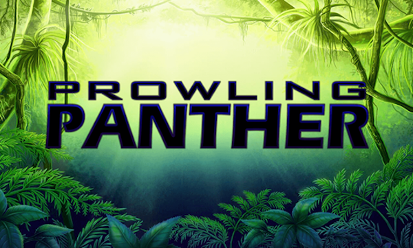 Prowling Panther slot game title logo