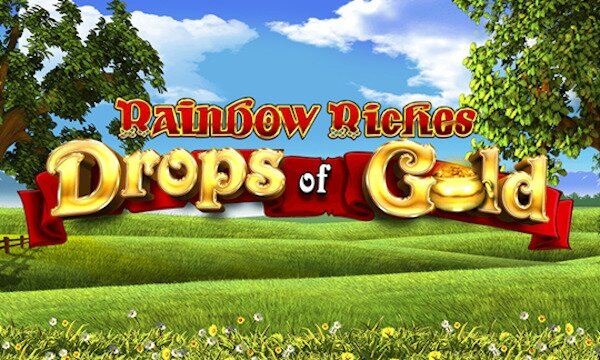 Rainbow Riches Drops of Gold slot logo