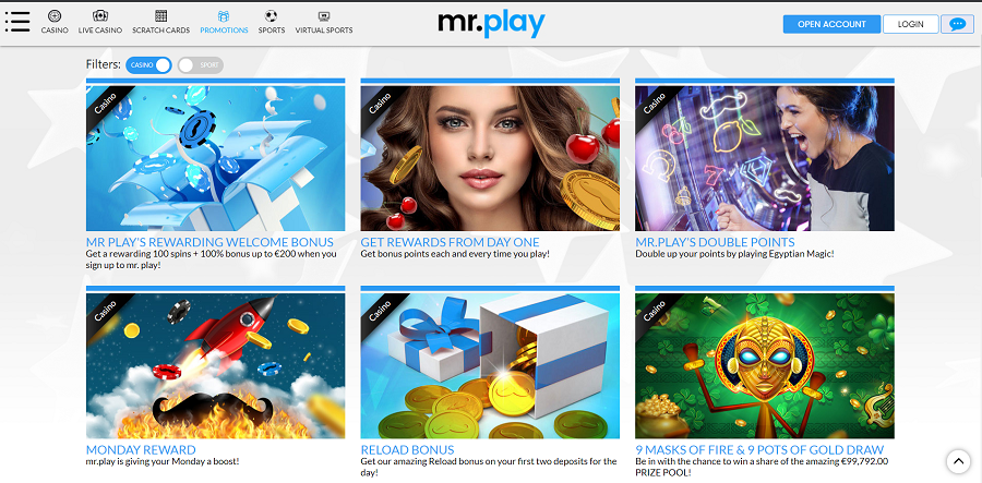 Mr.Play Promotions Page