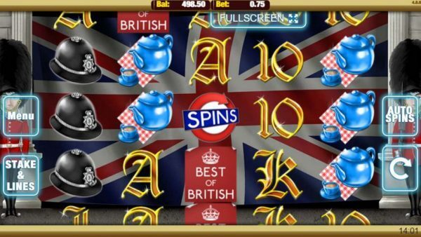 Best of British Slots Image